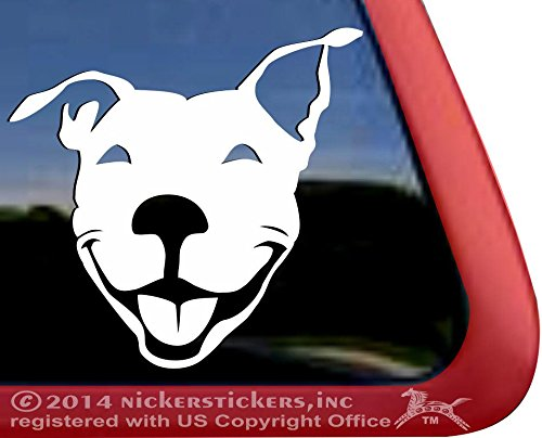 Smiling American Terrier Rescue Sticker