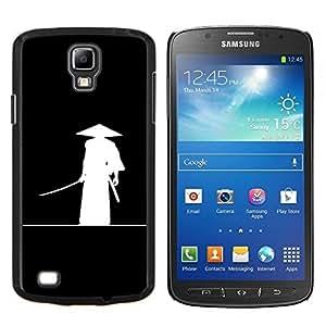 TECHCASE---Cubierta de la caja de protección para la piel dura ** Samsung Galaxy S4 Active i9295 ** --Minimalista Samurai japonés Katana Guerrero
