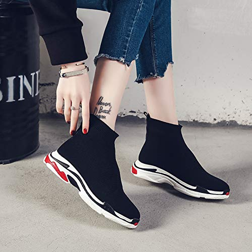 High Shoes Elastic Heel Sports Black Stockings Flat Breathable XINGMU Style Sole TgqwCSTO