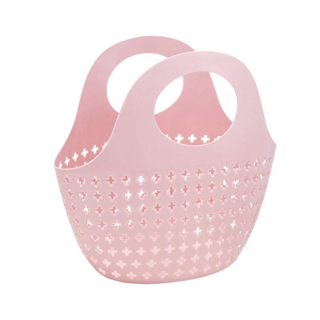 LiPing 10.6×5.5×10.6in Storage Fashion Plastic Shower Basket Rag Storage Kitchen Supplies Cleaning Utensils (A)