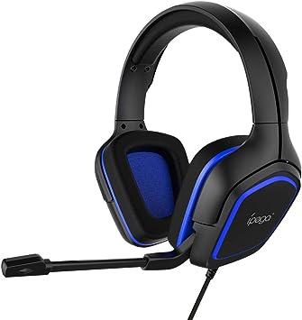 Auriculares Gaming para PS4,Cascos Gaming De Mac Estéreo con Micrófono Juego Gaming Headset con Control De Silencio para PC,Playstation 4,Xbox One,Nintendo Switch,Azul: Amazon.es: Deportes y aire libre