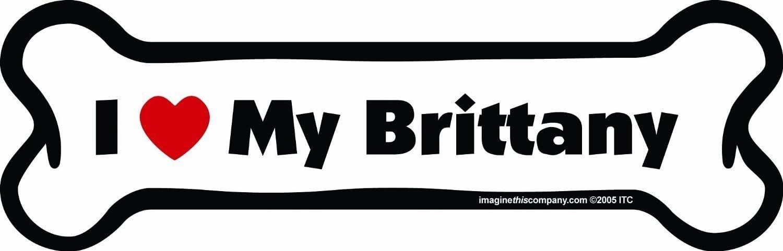 Brittany Dog Bone Magnet