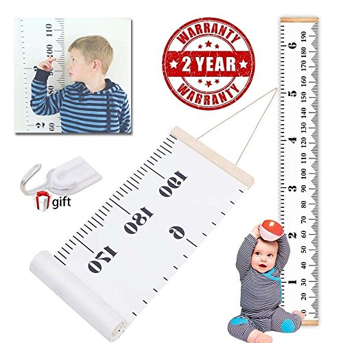 THINCOWIN Wall Growth Chart Wall Hanging Height Chart for baby Wall Ruler for Kids Room Hanging Decor for child