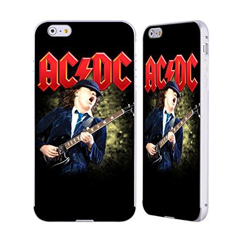 Officiel AC/DC ACDC Angus Young Guitare Solo Argent Étui Coque Aluminium Bumper Slider pour Apple iPhone 6 Plus / 6s Plus