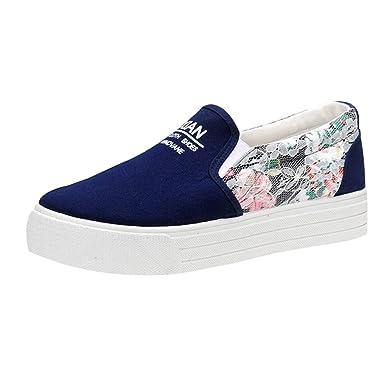 Zapatos de Mujer, ASHOP Zapatillas Deportivas de Running para Mujer Muffin de Encaje Lienzo Superficial Sneakers de Entrenamiento: Amazon.es: Ropa y ...