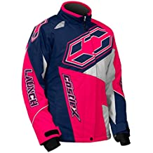 Castle X Racewear Launch SE G4 Youth Girls Snowmobile Jacket Navy/Hot Pink SM