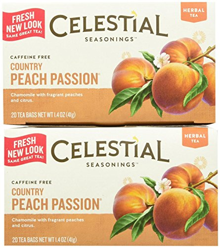 Celestial Seasonings Country Peach Passion Tea Bags, 20 ct, 2 pk Blackberry Passion Fruit Tea
