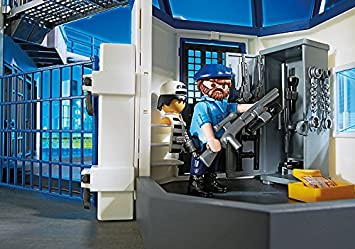 Playmobil 6920 Playmobil 6919 Stazione della Polizia con Prigione Auto della Polizia