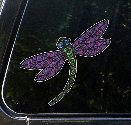 Patterned Dragonfly - Vinyl Car Decal Sticker - Copyright 2016 Yadda-Yadda Design Co. (COLOR CHOICES) (5