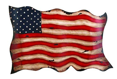 Deco 79 13970 Metal Flag Wall Decor, 41