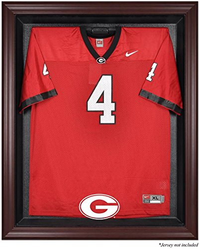 Georgia Bulldogs Mahogany Framed Logo Jersey Display Case by Sports Memorabilia