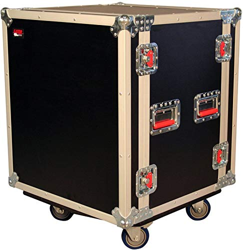 Gator Cases G-TOUR Road Ready Shock Rack Case with Heavy Duty Casters and Tour Grade Hardware; 17 Rackable Depth, 12U (G-TOUR SHK12 CA)