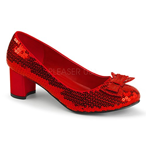 Funtasma by Pleaser Women's Dorothy-01 Pump,Red Sequins,7 M ()