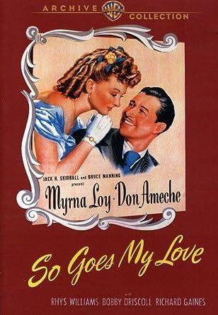 So Goes My Love Edizione: Stati Uniti Reino Unido DVD