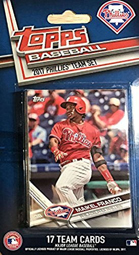 2017 Topps Factory Sealed Philadelphia Phillies Team set of 17 Cards (Maikel Franco, Aaron Nola, Vince Velasquez, Cesar Hernandez, Hector Neris, Cameron Rupp, Jeanmar Gomez, Clay Buchholz, Roman Quinn, Odubel Herrera, Jerad Eickhoff, Freddy Galvis, Andres Blanco, Jeremy Hellickson, Tommy Joseph, Howie Kendrick, Aaron Altherr)
