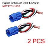 NOT FIT U16C2, 16mm Pigtail, Wire Connector Only for U16F1, U16F2 Push Button Switch (Pack of 2)