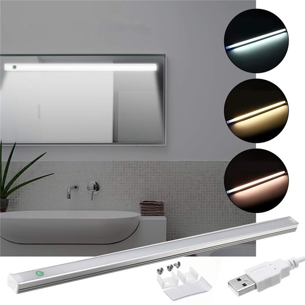 YPINGLI 37CM 5W Dimmable USB LED Rigid Strip Hard Bar Light Tube Mirror Lamp + Touch Switch DC5V LED Light Strip (Color : Warm White) by YPINGLI (Image #1)