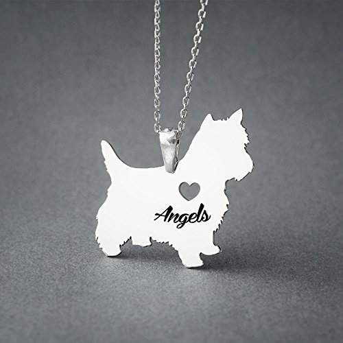 [Personalised Yorkshire Terrier Necklace - Yorkie Terrier Name Jewelry - Dog Jewelry - Dog breed Necklace - Dog Necklaces] (Yorkshire Terrier Jewelry)