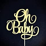 Oh Baby Cake Topper, Baby Shower Cake Topper, Gender Reveal Cake Topper, Baby Announcement