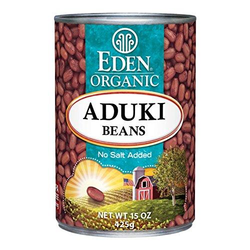 Eden Organic Aduki Beans, No Salt Added, 15-Ounce Cans (Pack of 12)