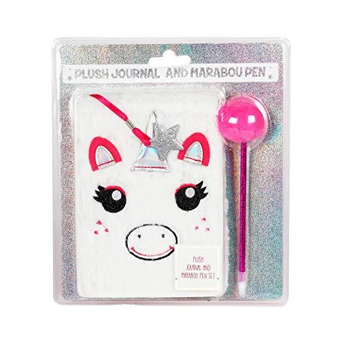 RALME Plush White Fur Journal with Marabou Pink Pen for Girls by RALME