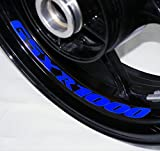 AFBA Suzuki GSXR 1000 Inner Rim Motorcycle Sticker Decal Stripe Gloss Blue