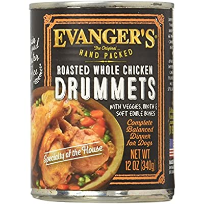 Evanger'S Roasted Chicken Drumettes Canned Dog Food 12 Oz (Pack of 12)