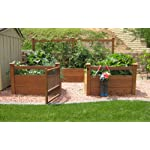 """Just Add Lumber Vegetable Garden Kit - 8'x12' Deluxe 9 DOES NOT INCLUDE LUMBER. Kit includes everything but the lumber: 12 Raised bed brackets, black plastic netting for fencing, black nylon netting for rear trellis, black vinyl-coated steel wire for gate, ceramic-coated rust resistant screws, plus all other required hardware and detailed instructions Buy your own rough lumber locally - Build the ultimate vegetable garden with this kit. Required rough construction lumber : (6) 2""""x10""""x12', (6) 2""""x10""""x8', (5) 2""""x4""""x12', (1) 2""""x4""""x6', (4) 2""""x2""""x12', (3) 1-5/8""""x1-5/8""""x12' (actual size). Note: the lumber boards will need to be further cut into the sizes described in the assembly instructions Gated garden keeps out rabbits and dogs"""