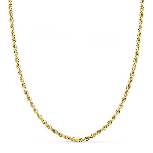 c68dfb9c4b2d Cordón Salomónico Ligero Oro amarillo 9k 60cm 3mm  Amazon.es  Joyería