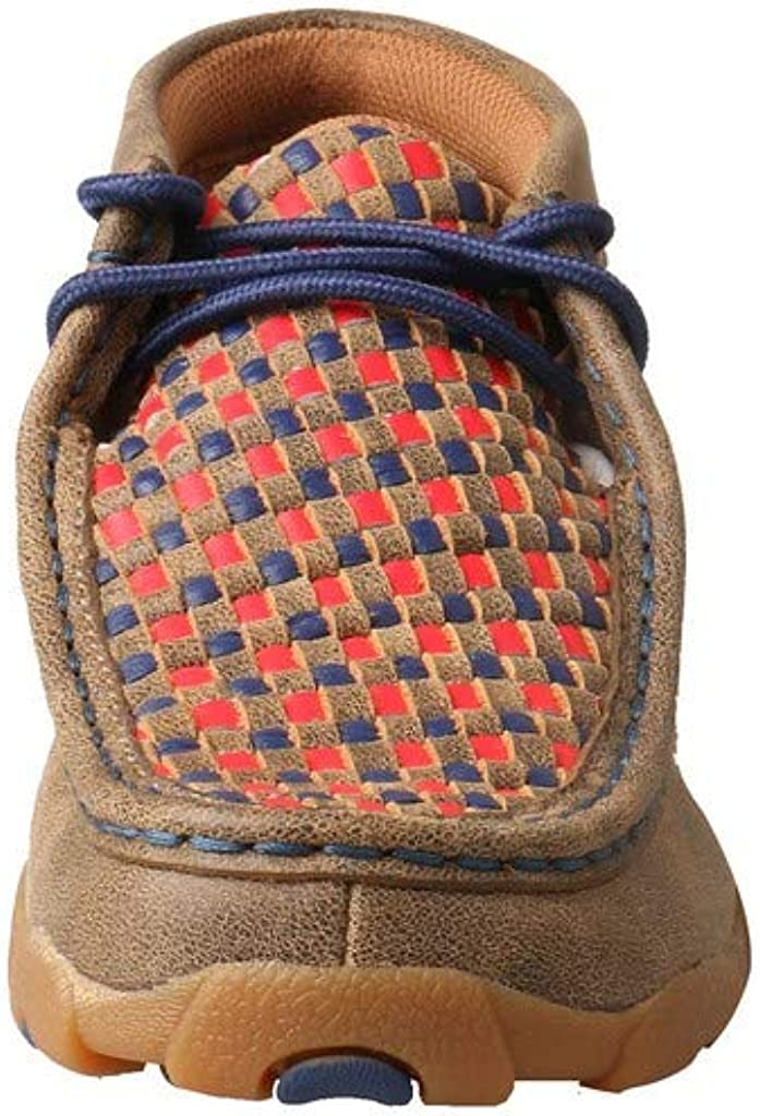 4.5 Medium TWISTED X Kids Driving Handcrafted Leather Casual Moccasins Bomber//Multi