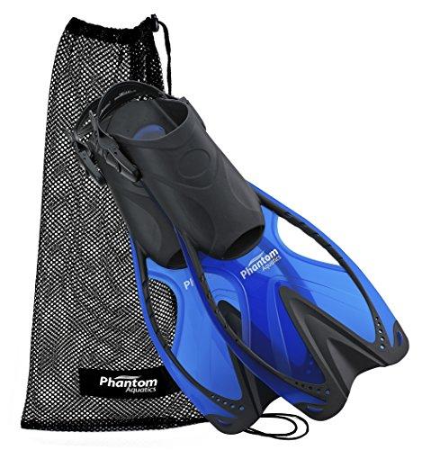 Phantom Aquatics Speed Sport Adjustable Snorkeling Fin, Blue, Large/X-Large (Size 9 to 13)