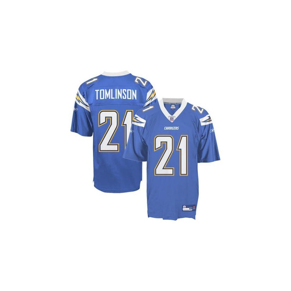 LaDainian Tomlinson #21 San Diego Chargers Replica Alternate Jersey Powder Blue Size 54 (XXL)