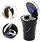 Global-store Car Ashtray with Cigarette Lighter Rechargeable, Blue LED Indicator Smokeless Detachable and Portable for Universal Car Cup
