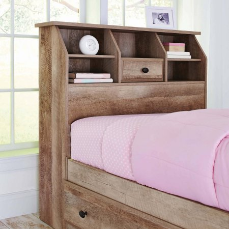 Weathered Finish Cubbyhole Storage Crossmill Twin Bookcase Headboard Features A Rustic Appearance And Simple Design Offers You A Countryside Charm Adds A Hint Of Taste To Your Existing Bedroom Decor by Generic
