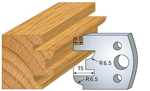 Jeu de 2 fers profil ht 40 mm pour porte outils entraxe plot 24 mm 096
