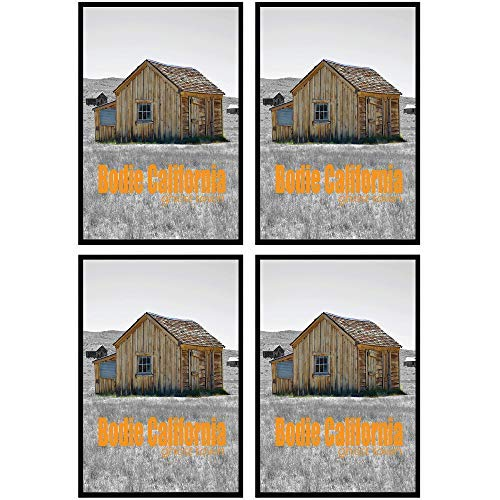 (Golden State Art Set of Four, 27x40 Poster Frame - Black - Swivel Tabs - Wall Mounting - Landscape/Portrait - Sawtooth Hanger - Acrylic Layer)