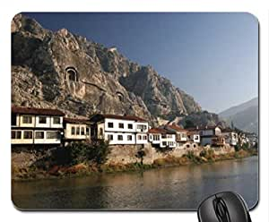 an Anatolian town in Turkey Mouse Pad, Mousepad (Houses Mouse Pad) by runtopwell