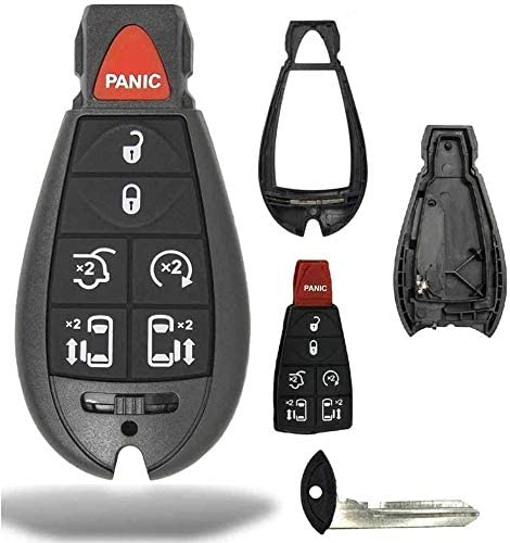 Case//Shell Only IYZ-C01C For Town Country Dodge Grand Caravan Volkswagen Routan 1 New Keyless Entry 7 Buttons Remote Start Car Key Fob M3N5WY783X
