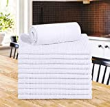 Utopia Towels 12 Pack Ribbed Bar Mops Towels, 16 x