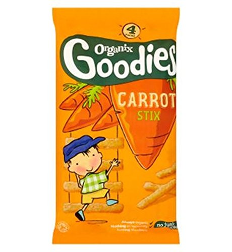Organix Goodies Organic Carrot Stix For Toddlers From 12+ Months 60G - Pack of 2 by Organix