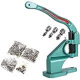 Evokem Manual Press Banner Grommet Machine Eyelet Tool Kit with Golden Grommets 3 Die, 900 Piece