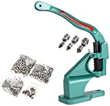 Evokem Manual Press Banner Grommet Machine Eyelet Tool Kit with Golden Grommets 3 Die, 900 Piece