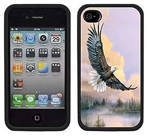 Bald Eagle Soaring Handmade iPhone 4 4S Black Case