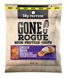 Gone Rogue High Protein Chicken Bacon Chips | Low Carb, Gluten Free Snacks | 4 pack
