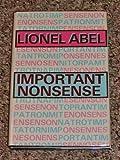 Important Nonsense, Lionel Abel, 0879753544