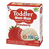 Hot-Kid Toddler Mum-Mum Rice Biscuits, Organic Strawberry, 12 packs of 2 Biscuits (Total 24 Biscuits)