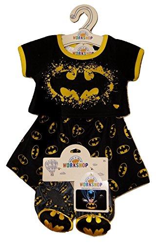 Build a Bear Batman Superhero PJs Slippers Set Teddy Size Outfit