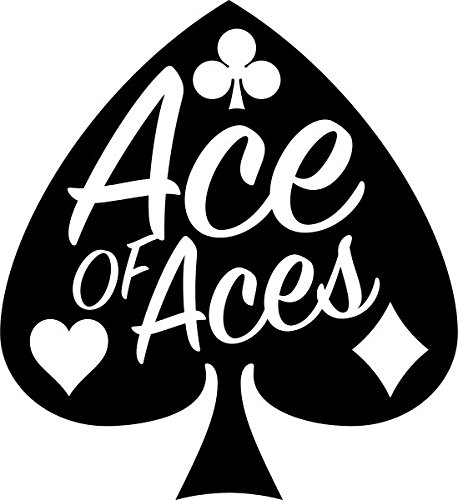 CMI DD046 Ace of Aces Decal Sticker | 6-Inches by 5.5-Inches | Premium Quality Black Vinyl