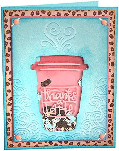 Sizzix 662277 Impresslits Embossing Folder Thanks a Latte by Sizzix