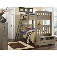 NE Kids Highlands Harper Twin over Twin Bunk Bed in Driftwood
